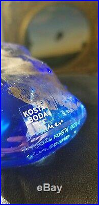 Kosta Boda Bertil Vallien Resting Head with Silver