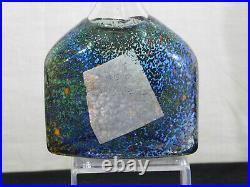 Kosta Boda Bertil Vallien Satellite Art Glass Flask Vase Signed & #'d