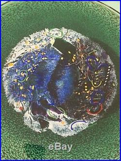 Kosta Boda Bertil Vallien Signed #79321 Art Glass Bowl Meteor Rare Look