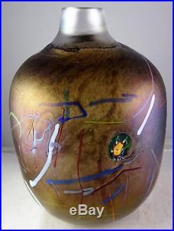 Kosta Boda Bertil Vallien Tornado Artist Coll. Swedish Modern Art Glass Vase
