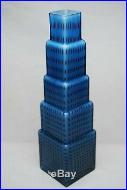 Kosta Boda. Bertil Vallien. Very Large Vase Metropolis. 36 CM