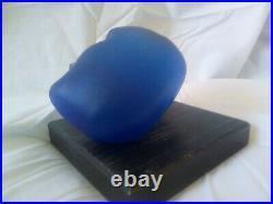 Kosta Boda Bertil Vallien head Sculpture glass