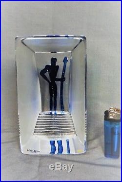 Kosta Boda Bertil Vallienstature Viewpoint Blue Man