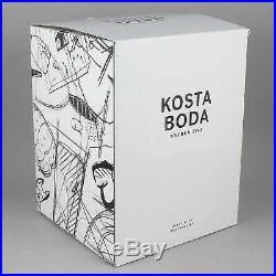 Kosta Boda Black Elements Glass Sculpture House of Mystery NEW