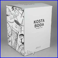 Kosta Boda Black Elements Glass Sculpture House of Mystery NEW Gift Box