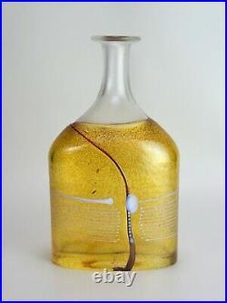 Kosta Boda Bottle Bertil Vallien Vase Signed 12 Tall