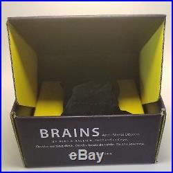Kosta Boda Brains Head Blue Karolina, New In Box