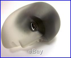 Kosta Boda Brains Series Bertil Vallien Black-Purple Glass Anti-Stress Object