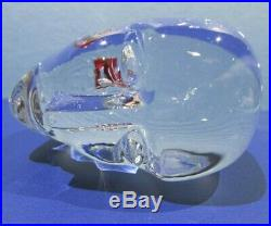 Kosta Boda Brains You B Vallien Art Crystal Glass Head Scarce Signed Numbered