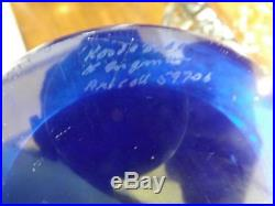 Kosta Boda Can Can Cancan Footed Bowl Signed Kjell Engman 12W 11.25T