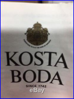 Kosta Boda Can- Can Vase Signed By Kjell Engman Purple Green Mint Green