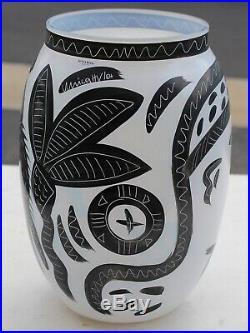 Kosta Boda Caramba Glass Vase Sculpture Ulrica Hydman Vallien Hand Painted Egypt
