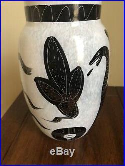 Kosta Boda Caramba Ulrica Hydman-Vallien vase 8.25 signed and numbered