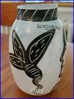Kosta Boda Caramba Ulrica Hydman Vlaien Artist Miniature Vase Face With Label 3