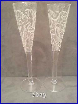 Kosta Boda Champagne Flutes Ulrica Hydman Vallien