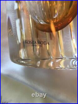 Kosta Boda Colorful Vase Hand Made and Signed In Sweden