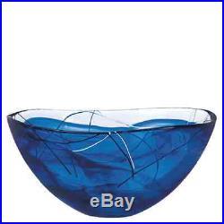 Kosta Boda Contrast Blue Large Bowl