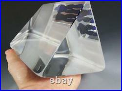 Kosta Boda Crystal Viewpoints Reflection Sculpture Signed by Bertil Vallien