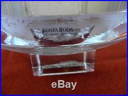 Kosta Boda Domino Tray With Silver Heart By Bertil Vallien Signed Numbered