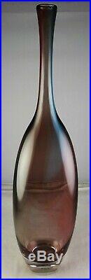 Kosta Boda Engman Tobago 16 3/4 Tall Scandinavian Modern Art Glass Vase