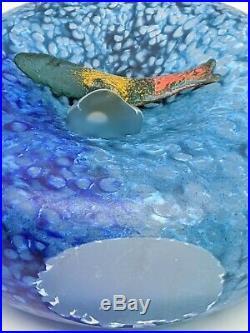 Kosta Boda Engman Vase Sculpture Fish out of Water Reef Series Argenta