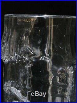 Kosta Boda Eric Hoglund tall face glass vase