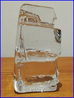 Kosta Boda Erik Hoglund Ice Man Rare Mid Century Heavy Art Glass 1960s