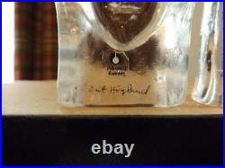 Kosta Boda Erik Hoglund Man & Woman Glass Paperweights Limited Editions
