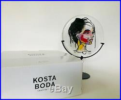 Kosta Boda Face of Colours Hand Painted & Signed by Sara Woodrow RTL. $295.00