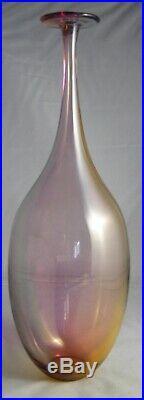 Kosta Boda Fidji 14 1/2 Art Glass Bottle Vase Signed Kjell Engman #48839 EXC