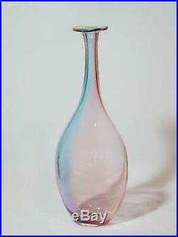 Kosta Boda Fidji 29cm Bottle Vase by Kjell Engman. VGC
