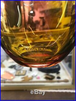 Kosta Boda Fidji Vase 14 1/4 Signed #7049939 No box in Mint Condition