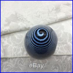 Kosta Boda Figural Man Paperweight Striped Blue Bertil Vallien 7171029