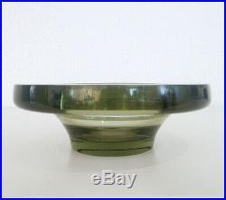 Kosta Boda Glas Schale signiert Vicke Lindstrand Design Sweden Glass Bowl signed