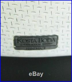 Kosta Boda Glas Vase Bertil Vallien Design Sweden Art Glass signiert 21,5cm