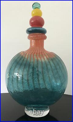 Kosta Boda Glass Decanter Kjell Engman RARE
