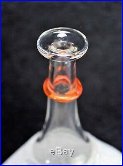 Kosta Boda Glass Satellite Bottle Bertil Vallien Vase Signed 12.25 Tall