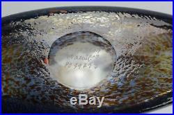 Kosta Boda Glass Satellite Bottle Bertil Vallien Vase Signed 12 Tall