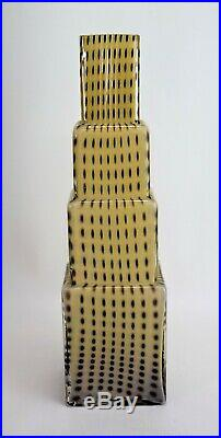 Kosta Boda Glass Vase Bertil Vallien Signed Metropolis Sculpture