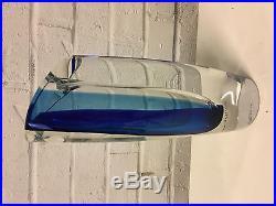 Kosta Boda Goran Warff Signed Swedish Art Glass Seaside Vase with Original Box