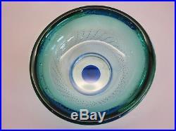 Kosta Boda Goran Warff Zoom Art Glass Oval Bubble Bowl # 59910 Unboxed
