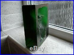 Kosta Boda Green Crystal Artglass Sculpture By Bertil Vallien