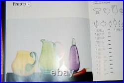 Kosta Boda Gunnel Sahlin Large Jug Frutteria In Green And Purple, Signed
