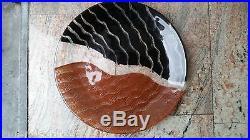 Kosta Boda Handpainted Tonga Charger/Platter Signed By Monica Backstrom 15-1/4
