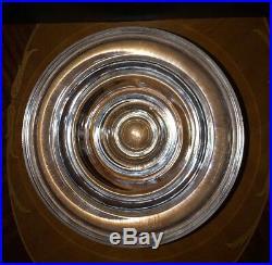 Kosta Boda Heavy Crystal Bowl 3 Tiered Signed By Anna Ehrner 59332