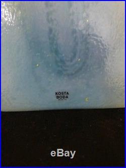 Kosta Boda Joy Vase by Monica Backstrom Blue/Yellow