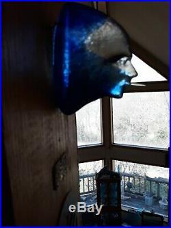 Kosta Boda Kjell Engman. Art Object Face In Blue