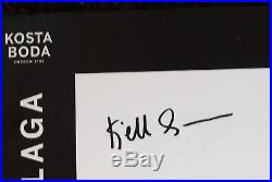 Kosta Boda, Kjell Engman. Art Object. Limiterad Upplaga, Two Blue Man