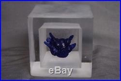 Kosta Boda Kjell Engman Art Object Snapshot Fat Lady In Blue. Signed. Rare