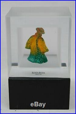 Kosta Boda, Kjell Engman. Art Object. Snapshot On An Original Wooden Foot
